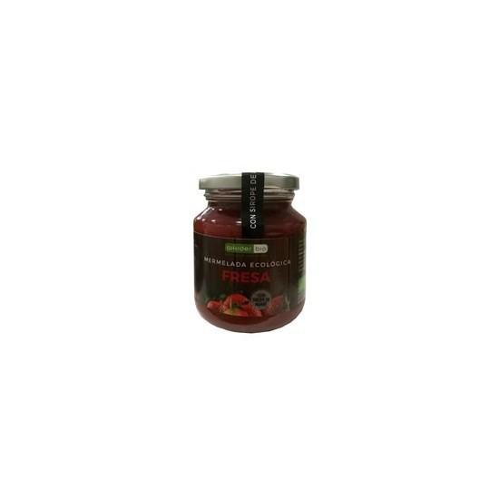 Mermelada fresa con sirope agave bio Aikider 330 gr
