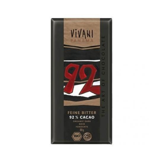 Choco vivani negro 92% bio Vivani 80 gr