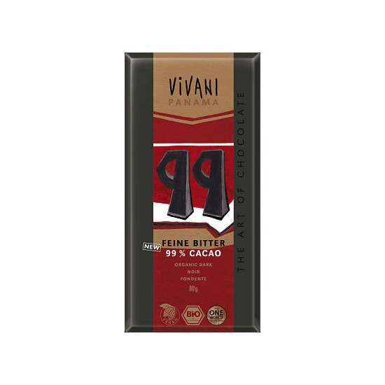 Choco vivani negro 99% bio Vivani 80 gr