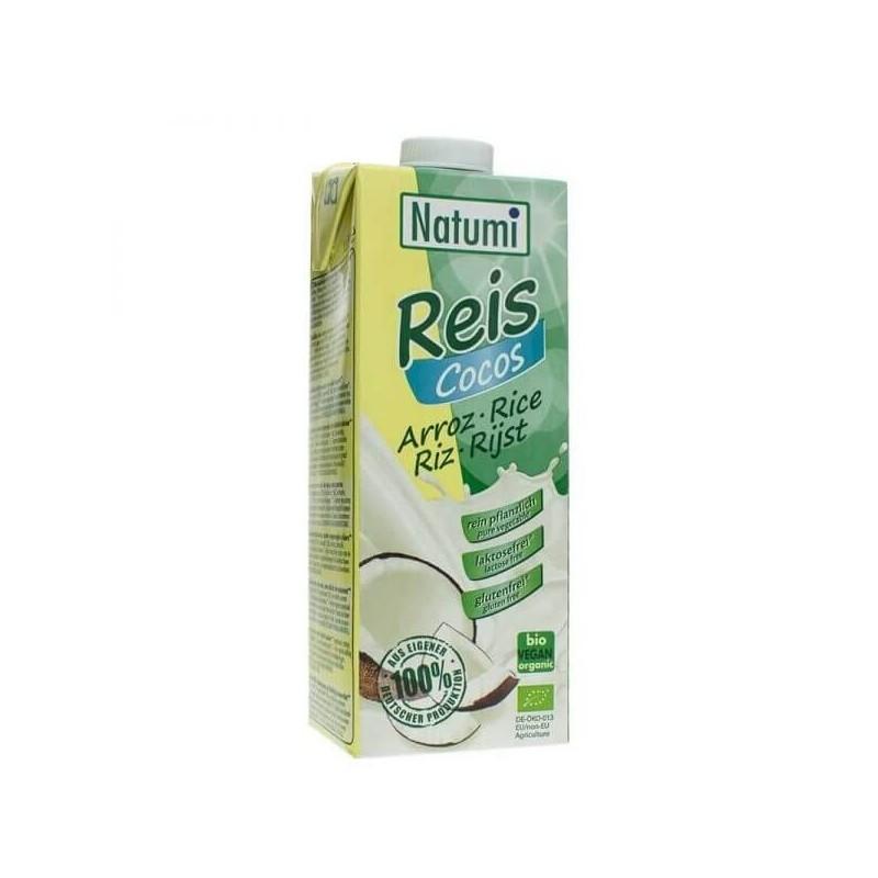 Leche de arroz con coco ecológico bio Natumi 1lt 12 BRICKS / CAJA