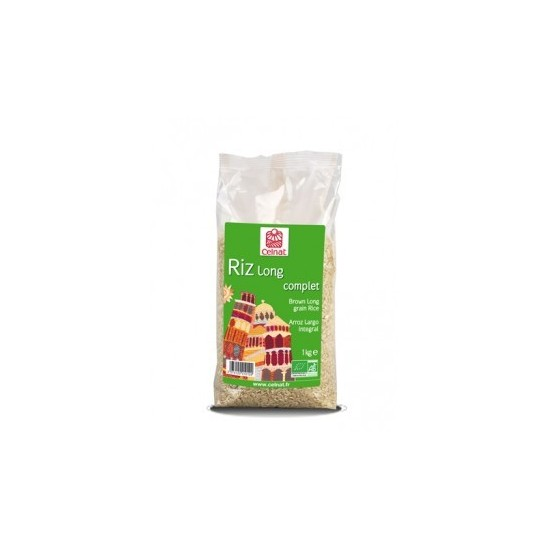 Arroz largo integral bio Celnat 1 kg