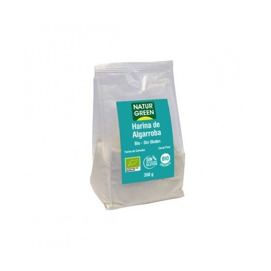 Harina algarroba bio sin gluten Naturgreen 350 gr
