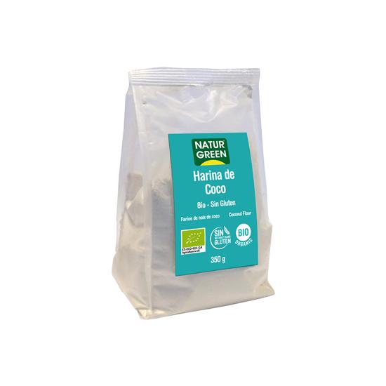 Harina coco bio sin gluten Naturgreen 350 gr
