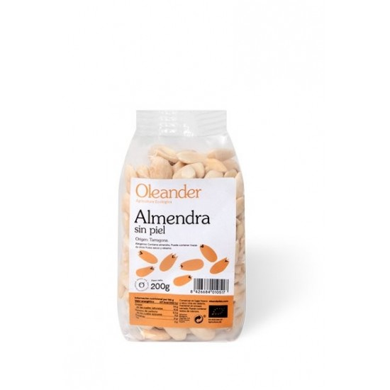 Almendra sin piel bio Oleander 200 gr
