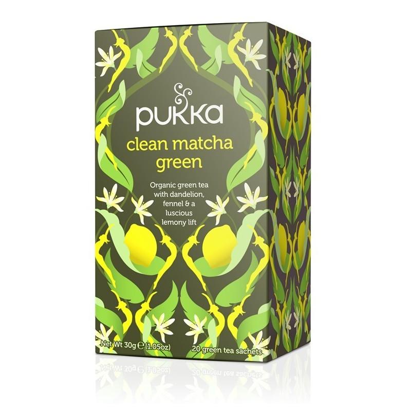 Infusión pukka clean matcha ortiga y curcuma bio Pukka 20x1,5gr