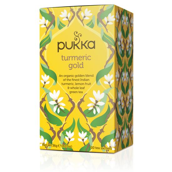 Infusión pukka curcuma turmeric gold bio Pukka 20x1,7 gr