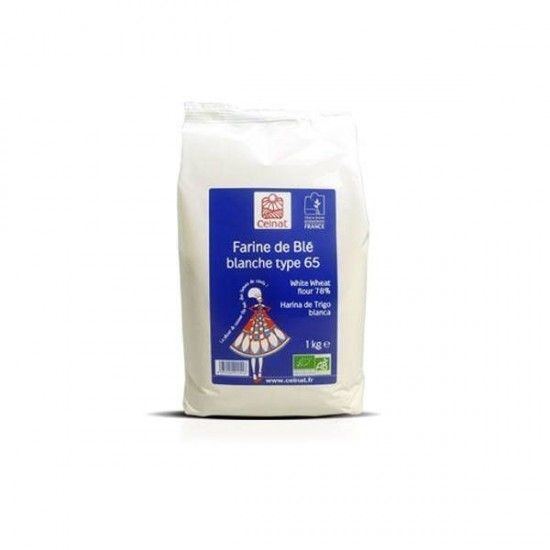 Harina trigo blanca tipo 65 bio Celnat 1 kg
