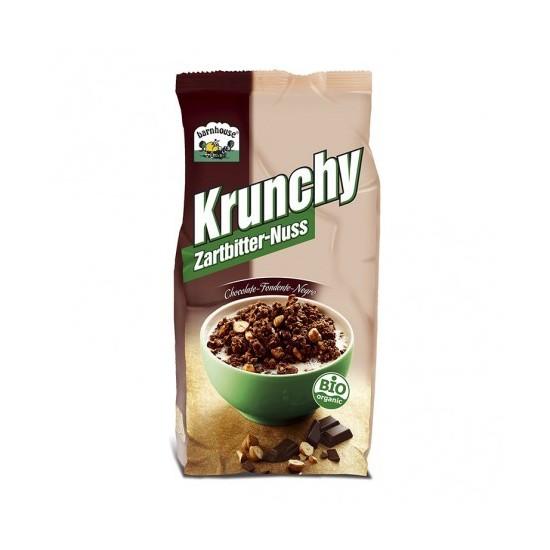 Muesly Krunchy chocolate negro y  avellanas bio Barnhouse 375 gr
