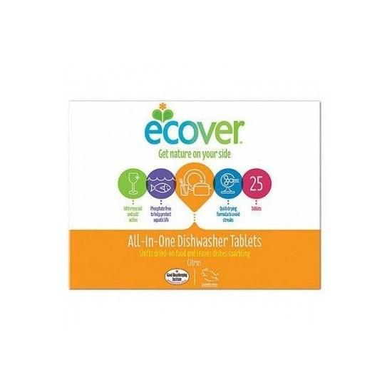 Lavavajillas tabletas todo en uno Ecover 25 table.