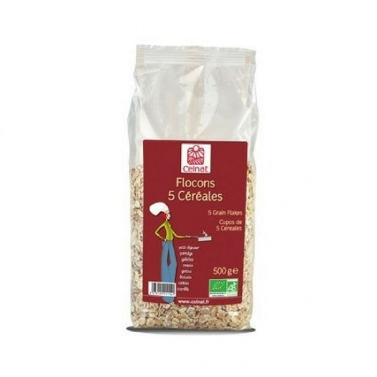 Copos 5 cereales bio Celnat 500 gr