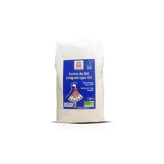 Harina trigo integral tipo 150  bio Celnat 1 kg