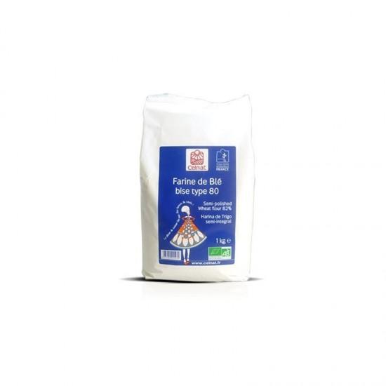 Harina trigo semi-integral tipo 80 bio Celnat 1kg