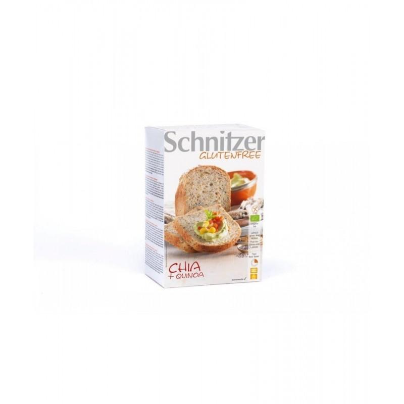 Pan con chia y quinoa bio Schnitzer 500 gr