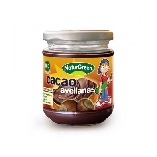 Crema avellanas cacao  bio Naturgreen 200 gr