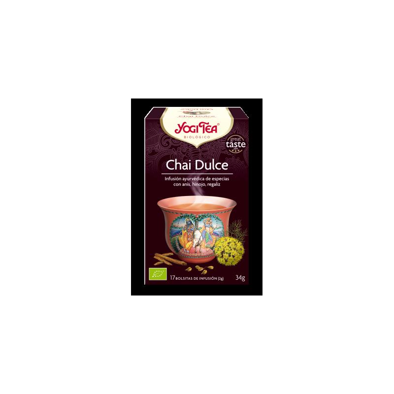 Yogi tea chai dulce bio Natursoy 17x2gr
