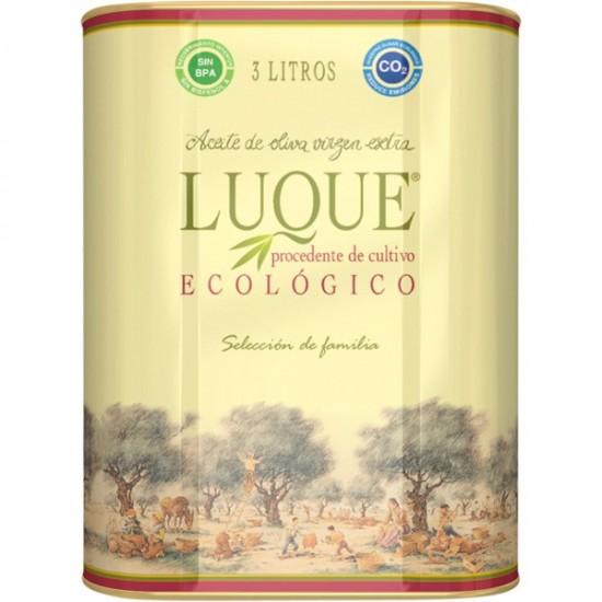 Aceite oliva eco lata Luque 3 lt