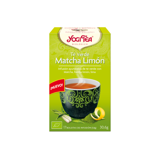 Yogi tea te verde matcha limon filtros bio Natursoy 17x1