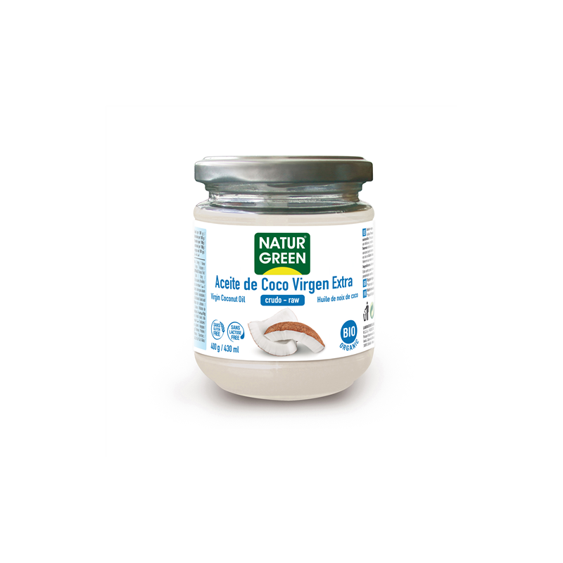 Aceite de coco virgen bio Naturgreen 400 gr